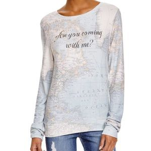 Wildfox Are You Coming with Me? Map sweatshirt